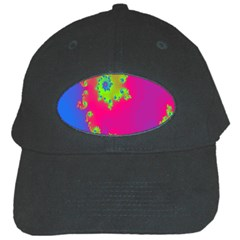 Digital Fractal Spiral Black Cap