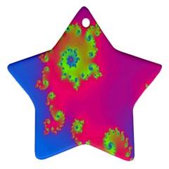 Digital Fractal Spiral Ornament (Star)