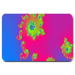 Digital Fractal Spiral Large Doormat