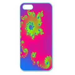 Digital Fractal Spiral Apple Seamless iPhone 5 Case (Color)