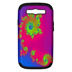 Digital Fractal Spiral Samsung Galaxy S III Hardshell Case (PC+Silicone)