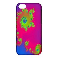 Digital Fractal Spiral Apple iPhone 5C Hardshell Case