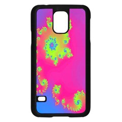 Digital Fractal Spiral Samsung Galaxy S5 Case (Black)