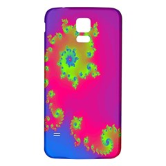 Digital Fractal Spiral Samsung Galaxy S5 Back Case (White)