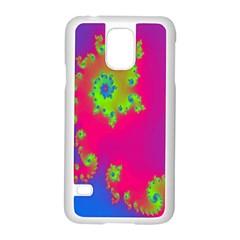 Digital Fractal Spiral Samsung Galaxy S5 Case (White)