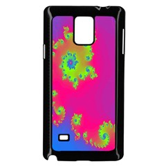 Digital Fractal Spiral Samsung Galaxy Note 4 Case (Black)