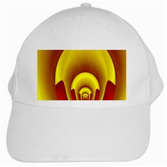 Red Gold Fractal Hypocycloid White Cap
