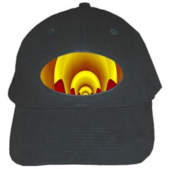 Red Gold Fractal Hypocycloid Black Cap