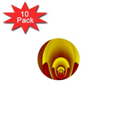 Red Gold Fractal Hypocycloid 1  Mini Buttons (10 Pack)