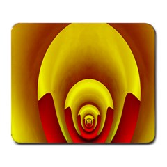 Red Gold Fractal Hypocycloid Large Mousepads
