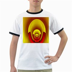 Red Gold Fractal Hypocycloid Ringer T Shirts