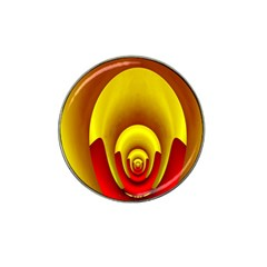 Red Gold Fractal Hypocycloid Hat Clip Ball Marker (10 pack)