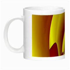 Red Gold Fractal Hypocycloid Night Luminous Mugs