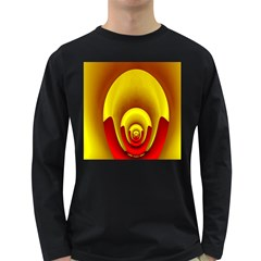 Red Gold Fractal Hypocycloid Long Sleeve Dark T-Shirts