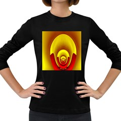 Red Gold Fractal Hypocycloid Women s Long Sleeve Dark T Shirts