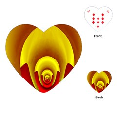 Red Gold Fractal Hypocycloid Playing Cards (heart)
