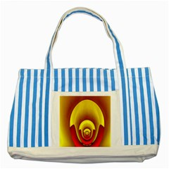 Red Gold Fractal Hypocycloid Striped Blue Tote Bag