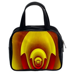 Red Gold Fractal Hypocycloid Classic Handbags (2 Sides)