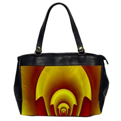 Red Gold Fractal Hypocycloid Office Handbags