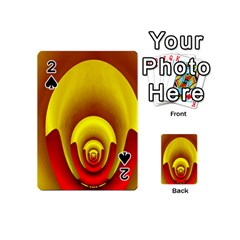 Red Gold Fractal Hypocycloid Playing Cards 54 (mini)
