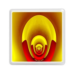 Red Gold Fractal Hypocycloid Memory Card Reader (square)