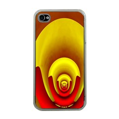 Red Gold Fractal Hypocycloid Apple iPhone 4 Case (Clear)