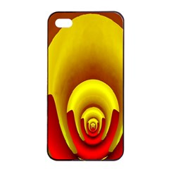 Red Gold Fractal Hypocycloid Apple iPhone 4/4s Seamless Case (Black)