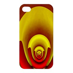 Red Gold Fractal Hypocycloid Apple iPhone 4/4S Hardshell Case