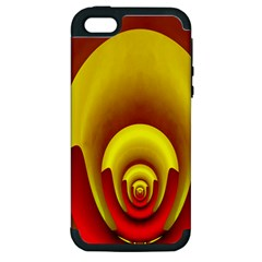 Red Gold Fractal Hypocycloid Apple iPhone 5 Hardshell Case (PC+Silicone)