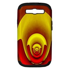Red Gold Fractal Hypocycloid Samsung Galaxy S III Hardshell Case (PC+Silicone)