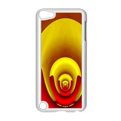 Red Gold Fractal Hypocycloid Apple Ipod Touch 5 Case (white)
