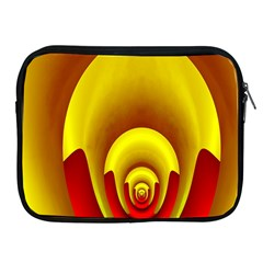 Red Gold Fractal Hypocycloid Apple iPad 2/3/4 Zipper Cases