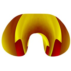 Red Gold Fractal Hypocycloid Travel Neck Pillows