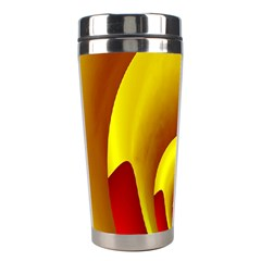 Red Gold Fractal Hypocycloid Stainless Steel Travel Tumblers