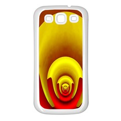 Red Gold Fractal Hypocycloid Samsung Galaxy S3 Back Case (white)