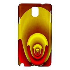 Red Gold Fractal Hypocycloid Samsung Galaxy Note 3 N9005 Hardshell Case