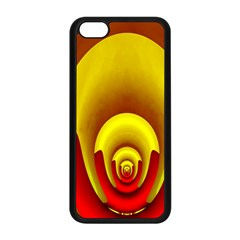 Red Gold Fractal Hypocycloid Apple iPhone 5C Seamless Case (Black)