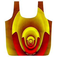Red Gold Fractal Hypocycloid Full Print Recycle Bags (L)
