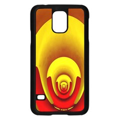 Red Gold Fractal Hypocycloid Samsung Galaxy S5 Case (Black)