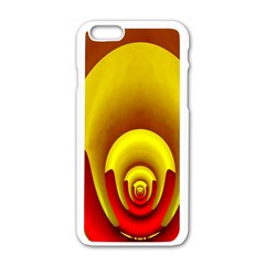 Red Gold Fractal Hypocycloid Apple iPhone 6/6S White Enamel Case