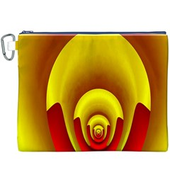 Red Gold Fractal Hypocycloid Canvas Cosmetic Bag (xxxl)