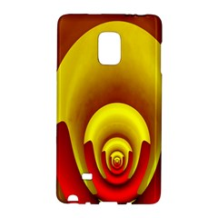 Red Gold Fractal Hypocycloid Galaxy Note Edge