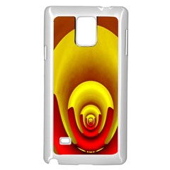 Red Gold Fractal Hypocycloid Samsung Galaxy Note 4 Case (white)