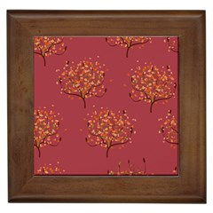 Beautiful Tree Background Pattern Framed Tiles
