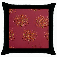 Beautiful Tree Background Pattern Throw Pillow Case (black)