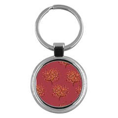 Beautiful Tree Background Pattern Key Chains (Round)