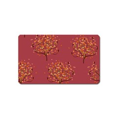 Beautiful Tree Background Pattern Magnet (Name Card)