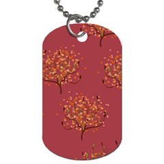 Beautiful Tree Background Pattern Dog Tag (Two Sides)