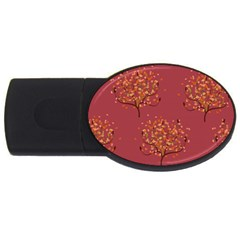 Beautiful Tree Background Pattern USB Flash Drive Oval (1 GB)