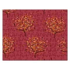 Beautiful Tree Background Pattern Rectangular Jigsaw Puzzl